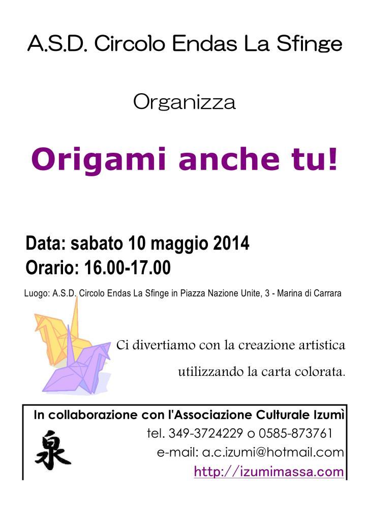 Origami Anche Tu! (Marina di Carrara) con il circolo La Sfinge
